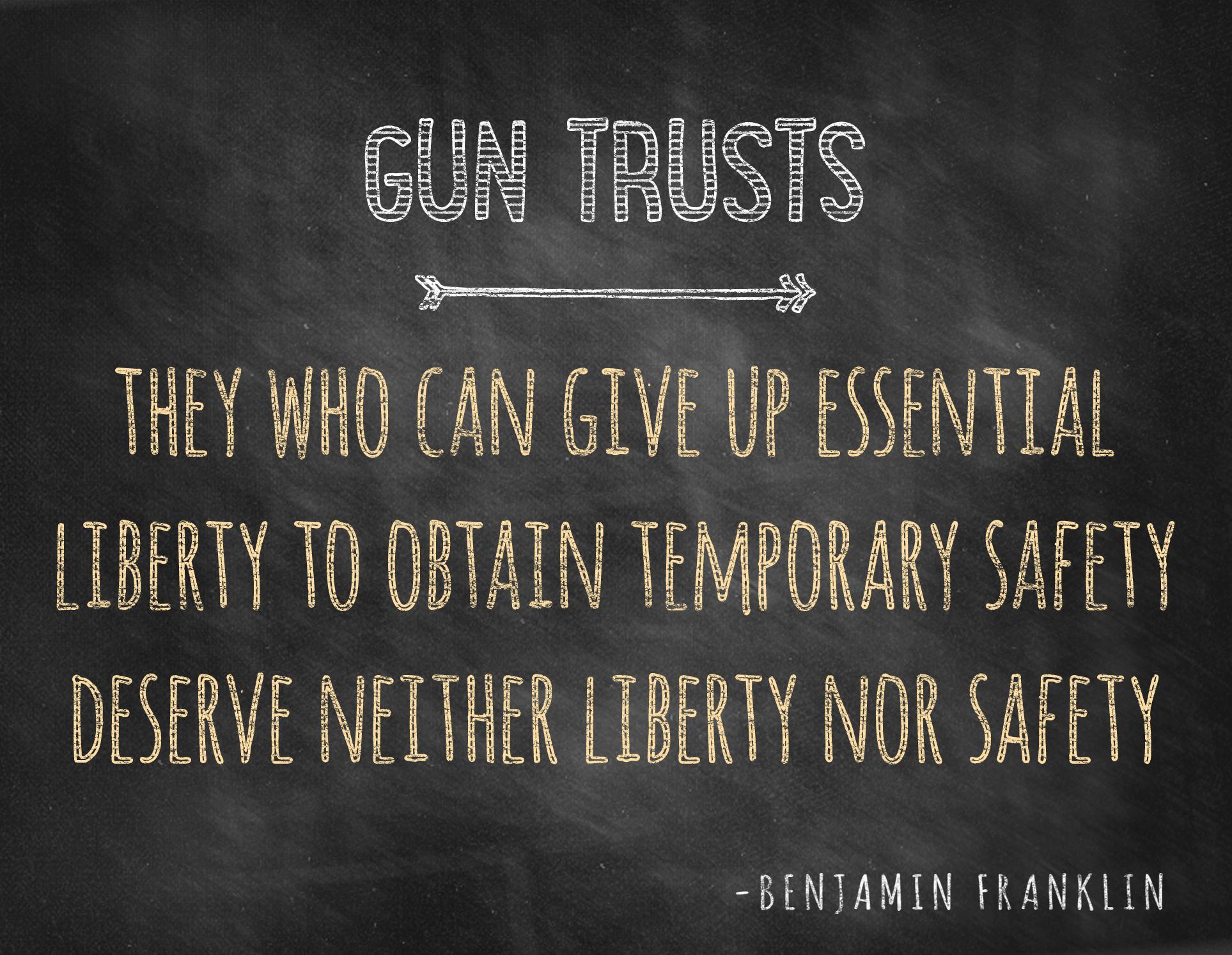 Charleston Gun Trusts or Firearm Trusts
