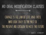 No Oral Modification Clause